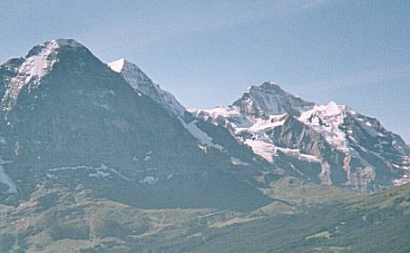 Bernese Oberland mountains: Eiger, M�nch and Jungfrau