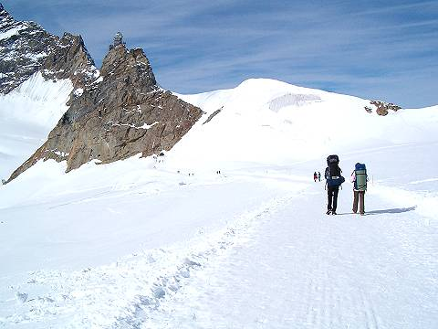 Jungfraujoch: promenade on eternal snow